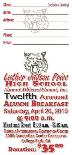 Annual Alumni Breakfast - Luther Judson Price High School Alumni